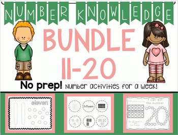 *BUNDLE* Number Knowledge: Numbers 11-20 NO PREP!)