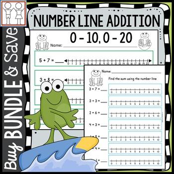 BUNDLE: Number Line Addition