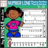 BUNDLE: Number Line Missing Numbers