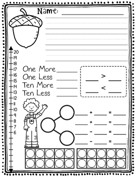 BUNDLE: Number of the Day Worksheets