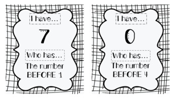 BUNDLE: Numbers 0-100 I HAVE, WHO HAS Game to Practice Ordinal Vocab