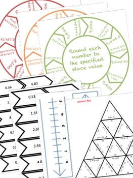 BUNDLE Numbers & Expressions Math Stations for Fifth Grade Math