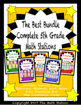 The Best Bundle Complete Math Stations for Fifth Grade