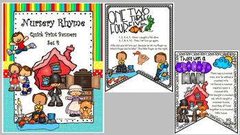 BUNDLE - Nursery Rhyme Quick Print Banners for Elem. Classroom (Sets 1-4)