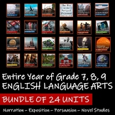 BUNDLE OF 24 UNITS - Saskatchewan English Language Arts 7,