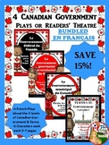 BUNDLE OF 4 CANADIAN GOVERNMENT PLAYS OR READERS' THEATRE EN FRANÇAIS
