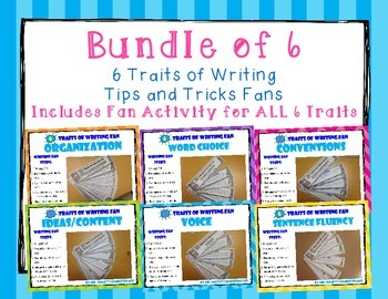 BUNDLE OF ALL TRAITS 6 Traits of Writing Rubric Fan- Refer