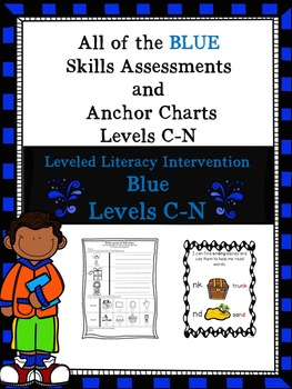 BUNDLE OF ALL of the Blue LLI Skills Assessments and Anchor Charts