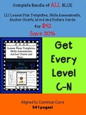 BUNDLE ALL Blue LLI Anchor Charts,Skills Assessments,Lesson Plan Templates, More