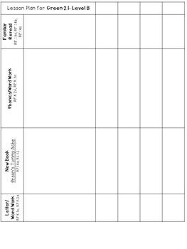 BUNDLE OF ALL Green LLI Anchors, Skills Assessments,Lesson Templates, MORE