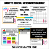 BUNDLE OF DIGITAL BACK TO SCHOOL RESOURCES FOR HIGH SCHOOL