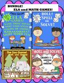 BUNDLE OF MATH AND ELA GAMES!  GRADES 1 - 2