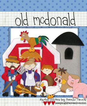 BUNDLE: Old McDonald's Farm Clip Art