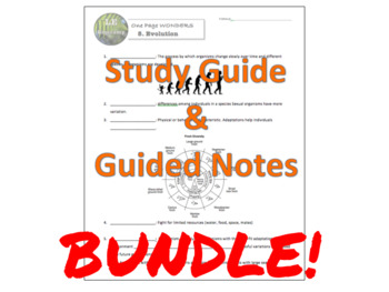 BUNDLE One Page Wonder – BASIC BUNDLE – Guides only