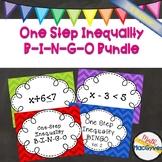 BUNDLE- One Step Inequality BINGO Version 1 and 2!