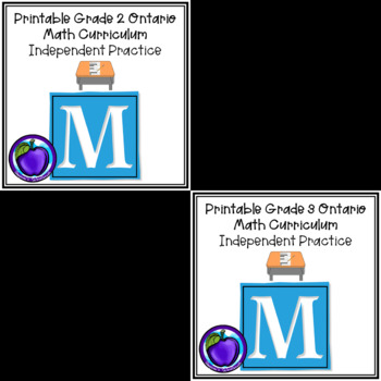 BUNDLE Ontario Math Independent Practice - Grade 2 and 3