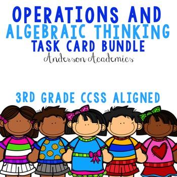 Operations & Algebraic Thinking {3.OA} Task Cards Bundle
