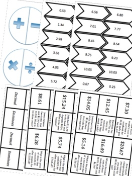 BUNDLE Operations with Decimals Math Stations for Fifth Grade Math