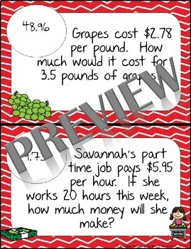 BUNDLE Operations with Decimals Word Problems - Math Scavenger Quest