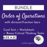 BUNDLE Order of Operations Card Sort + Worksheets