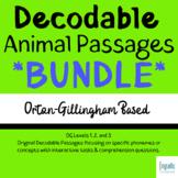 BUNDLE: Orton-Gillingham Decodable Animal Passages Levels