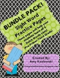 BUNDLE PACK! All of the Dolch Sight Words Practice Sheets