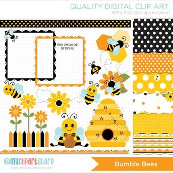 CLIPART BUNDLE - Bumble Bees / Honey Bee