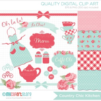CLIPART BUNDLE - Country Chic Kitchen Tea