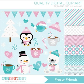 CLIPART BUNDLE - Frosty Friends