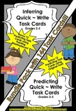 Inferring & Predicting BUNDLE PACK ~ 144 QUICK WRITE TASK CARDS