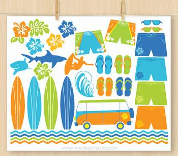 CLIPART BUNDLE - Surfin' Safari / Summer