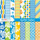MINI BUNDLE - Surfin' Safari Clipart and Digital Papers, Surf, Summer