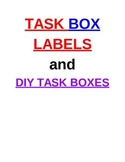 BUNDLE PACK- Task Box Labels AND DIY Task Box Ideas