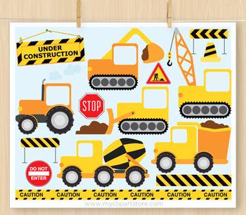 CLIPART BUNDLE - Transport / Construction Vehicles