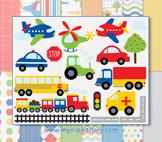 CLIPART BUNDLE- Transport / Construction Vehicles