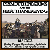 PLYMOUTH PILGRIMS & the FIRST THANKSGIVING - Comprehension, Activities, Bingo