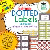 BUNDLE POLKA DOT Labels Editable Classroom Notebook Folder Name Tags (FALL)