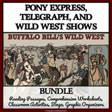 PONY EXPRESS, TELEGRAPH,WILD WEST SHOW BUNDLE:Reading Comprehension, Activities