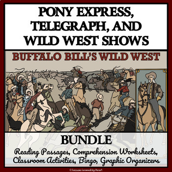 BUNDLE - PONY EXPRESS, TELEGRAPH, AND THE WILD WEST SHOW