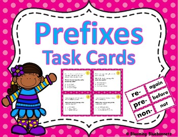 PREFIX & SUFFIX TASK CARDS-PREFIX & SUFFIX POPCORN GAME-GRAMMAR-BUNDLE