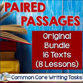BUNDLE: Paired Passages and Common Core Writing Tasks 16 texts (8 lessons)