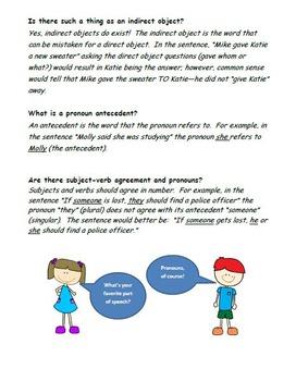 Grammar Worksheets- Parts of Speech F.A.Q.s