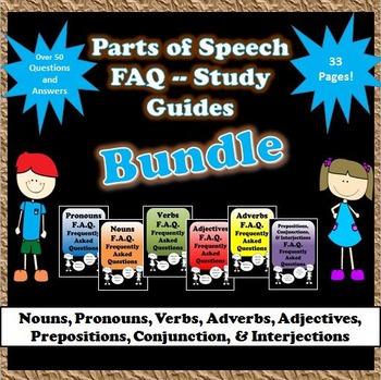 Grammar - Parts of Speech Study Guides