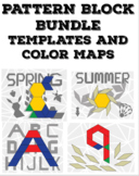 BUNDLE: Pattern Block Color Maps, Templates, and Printable Pieces