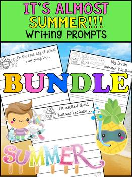 BUNDLE : Peppy Pencil Writing Prompts : It's Almost Summer - End of the Year