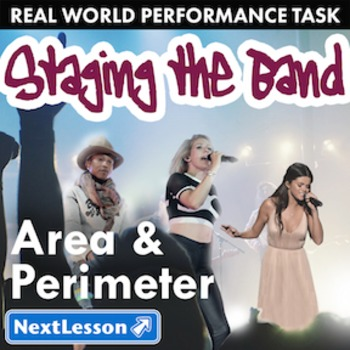 BUNDLE- Performance Task- Area & Perimeter- Staging the Band