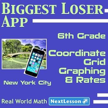 BUNDLE – Performance Task – Coordinate Grid Graphing & Rates - Biggest Loser App
