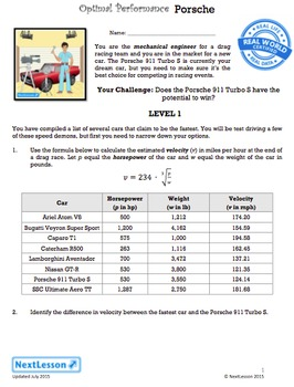 BUNDLE - Performance Task – Cube Roots & Functions – Optimal Performance