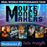 BUNDLE - Performance Task – Data Analysis – Movie Money Makers