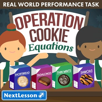 BUNDLE - Performance Task – Equations – Operation Cookie